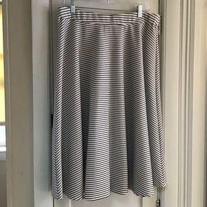 Gray Striped Skirt
